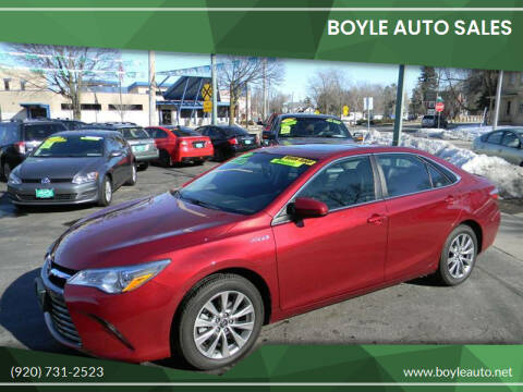 2017 Toyota Camry Hybrid for sale at Boyle Auto Sales in Appleton WI