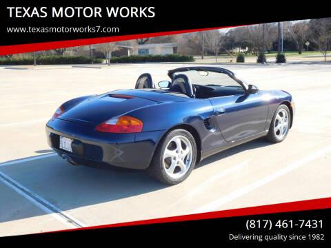 1999 Porsche Boxster for sale at TEXAS MOTOR WORKS in Arlington TX