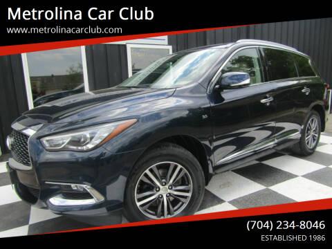 2018 Infiniti QX60 for sale at Metrolina Car Club in Matthews NC