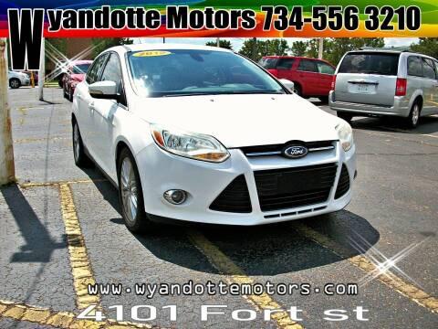 2012 Ford Focus for sale at Wyandotte Motors in Wyandotte MI