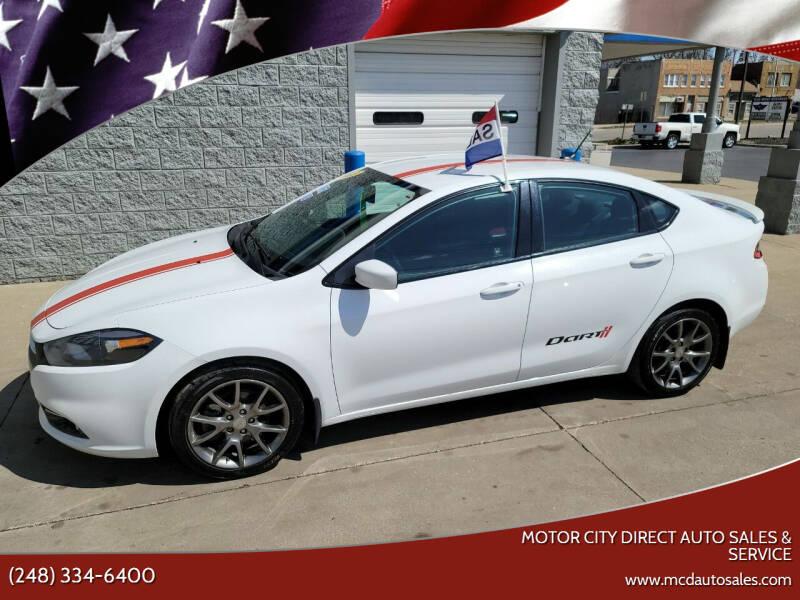 2013 Dodge Dart for sale at Motor City Direct Auto Sales & Service in Pontiac MI