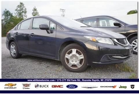 2013 Honda Civic for sale at WHITE MOTORS INC in Roanoke Rapids NC