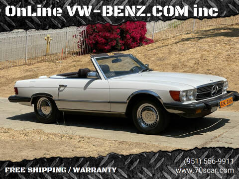 1980 Mercedes-Benz 450 SL for sale at OnLine VW-BENZ.COM Auto Group in Riverside CA