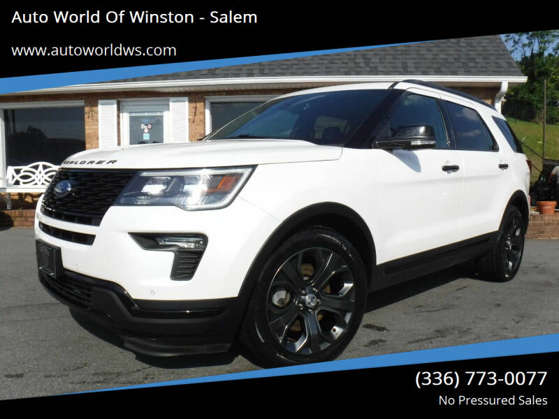 2018 Ford Explorer for sale at Auto World Of Winston - Salem in Winston Salem NC