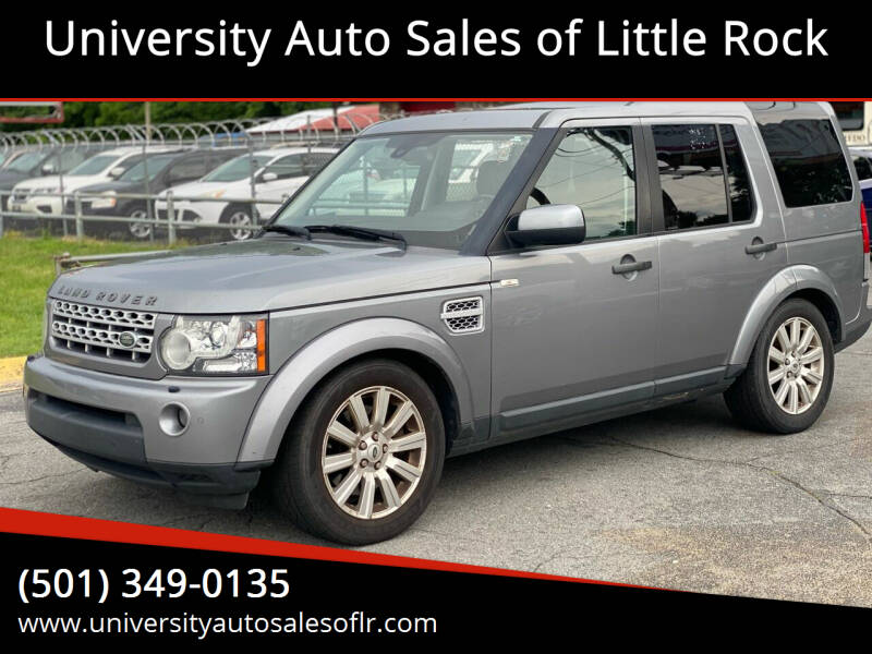 2012 Land Rover LR4 for sale at University Auto Sales of Little Rock in Little Rock AR