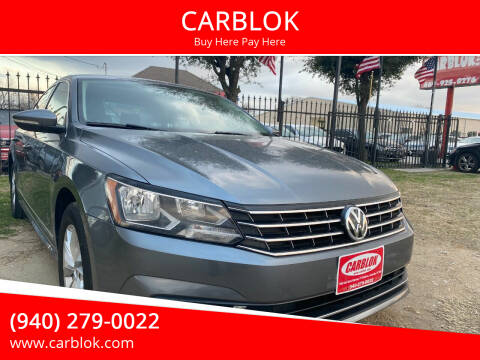 2016 Volkswagen Passat for sale at CARBLOK in Lewisville TX