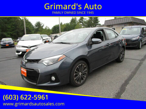 2016 Toyota Corolla for sale at Grimard's Auto in Hooksett NH