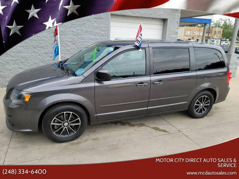 2015 Dodge Grand Caravan for sale at Motor City Direct Auto Sales & Service in Pontiac MI