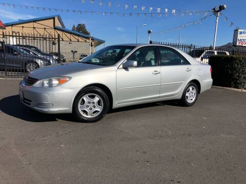 2003 Toyota Camry for sale at BOARDWALK MOTOR COMPANY in Fairfield CA