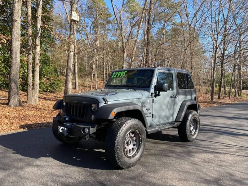 2015 Jeep Wrangler for sale at US 1 Auto Sales in Graniteville SC