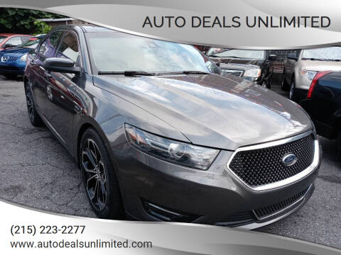 2015 Ford Taurus for sale at AUTO DEALS UNLIMITED in Philadelphia PA