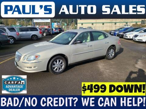 2009 Buick LaCrosse for sale at Paul's Auto Sales in Eugene OR