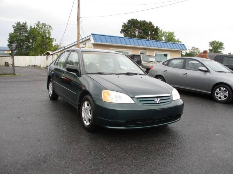 2001 Honda Civic for sale at Supermax Autos in Strasburg VA