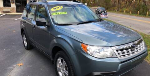 2013 Subaru Forester for sale at WHARTON'S AUTO SVC & USED CARS in Wheeling WV