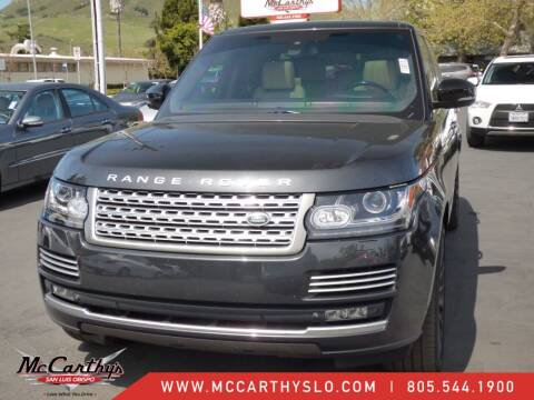 2015 Land Rover Range Rover for sale at McCarthy Wholesale in San Luis Obispo CA