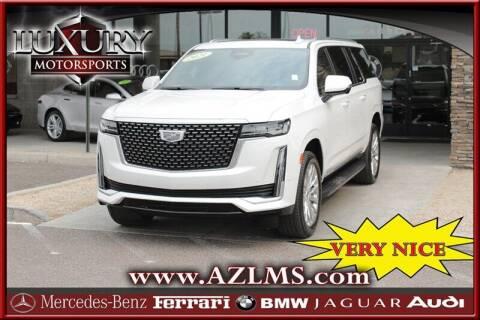 2021 Cadillac Escalade ESV for sale at Luxury Motorsports in Phoenix AZ