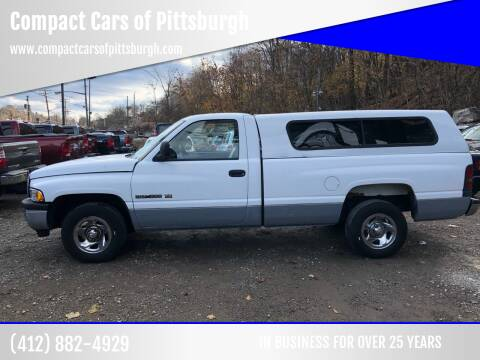 1999 Dodge Ram Pickup 1500 for sale at Compact Cars of Pittsburgh in Pittsburgh PA