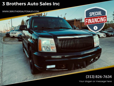2005 Cadillac Escalade for sale at 3 Brothers Auto Sales Inc in Detroit MI
