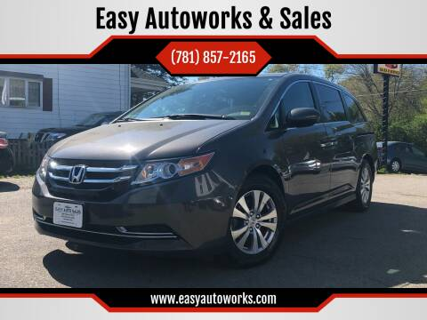 2015 Honda Odyssey for sale at Easy Autoworks & Sales in Whitman MA