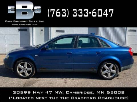 2004 Audi A4 for sale at East Bradford Sales, Inc in Cambridge MN
