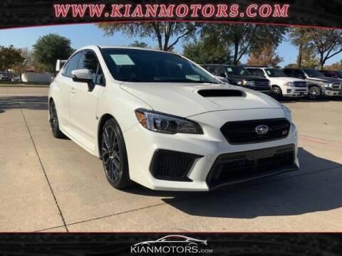 2019 Subaru WRX for sale at KIAN MOTORS INC in Denton TX