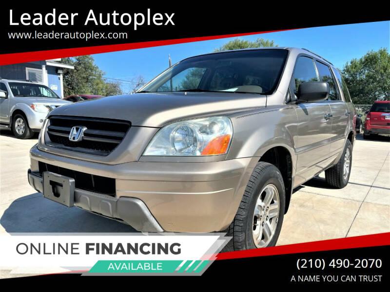 2003 Honda Pilot for sale at Leader Autoplex in San Antonio TX