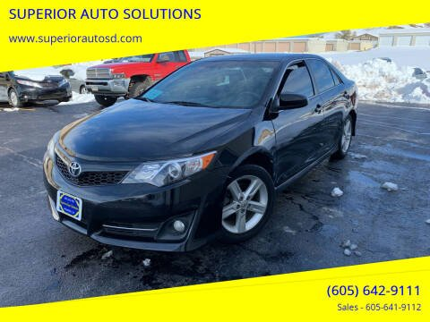 2013 Toyota Camry for sale at SUPERIOR AUTO SOLUTIONS in Spearfish SD