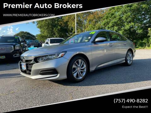 2018 Honda Accord for sale at Premier Auto Brokers in Virginia Beach VA