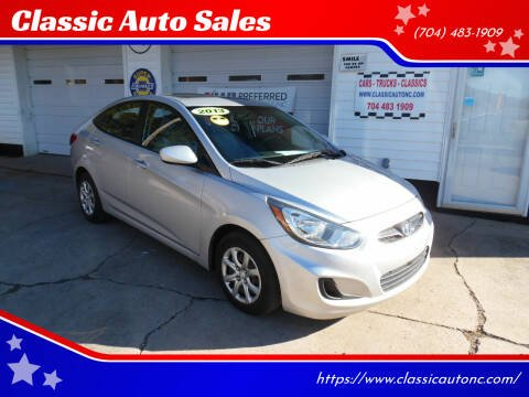 2013 Hyundai Accent for sale at Classic Auto Sales in Maiden NC