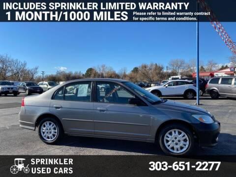 2005 Honda Civic for sale at Sprinkler Used Cars in Longmont CO