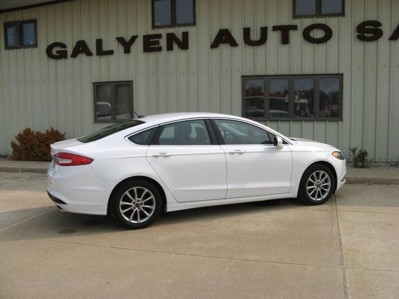 2017 Ford Fusion for sale at Galyen Auto Sales Inc. in Atkinson NE