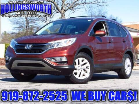 2015 Honda CR-V for sale at Hollingsworth Auto Sales in Raleigh NC