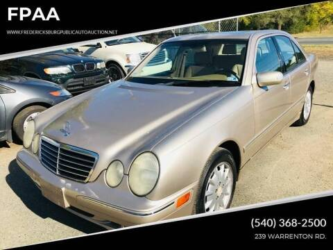 2000 Mercedes-Benz E-Class for sale at FPAA in Fredericksburg VA