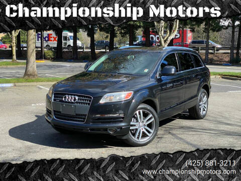 2007 Audi Q7 for sale at Championship Motors in Redmond WA