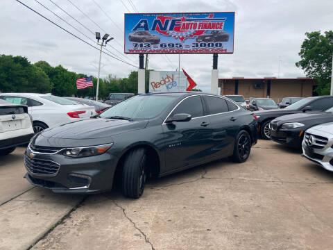 2017 Chevrolet Malibu for sale at ANF AUTO FINANCE in Houston TX
