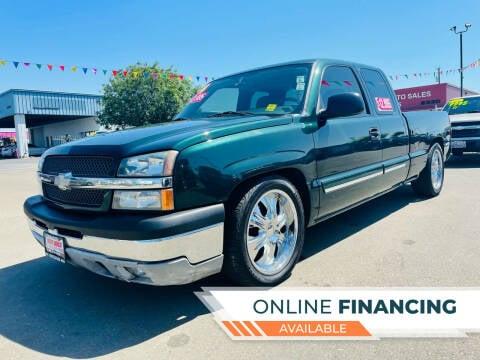2004 Chevrolet Silverado 1500 for sale at Credit World Auto Sales in Fresno CA