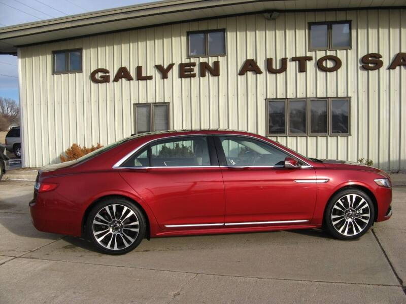 2017 Lincoln Continental for sale at Galyen Auto Sales Inc. in Atkinson NE