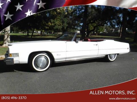 1973 Cadillac Eldorado for sale at Allen Motors, Inc. in Thousand Oaks CA