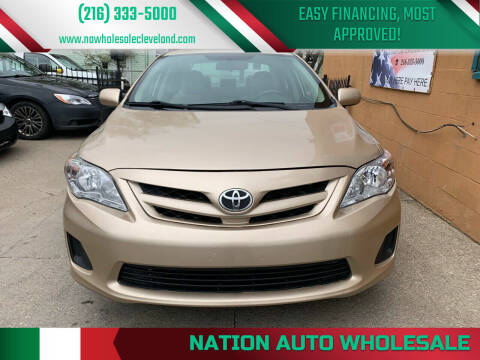 2013 Toyota Corolla for sale at Nation Auto Wholesale in Cleveland OH