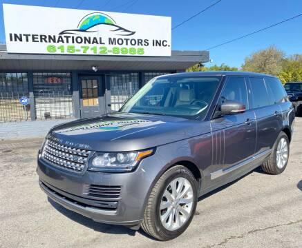 2014 Land Rover Range Rover for sale at International Motors Inc. in Nashville TN