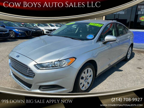 2013 Ford Fusion for sale at Cow Boys Auto Sales LLC in Garland TX