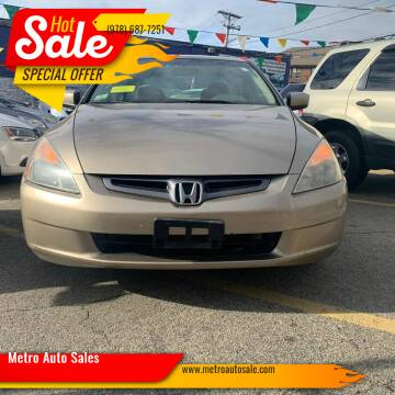 2003 Honda Accord for sale at Metro Auto Sales in Lawrence MA