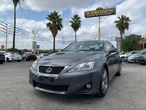2012 Lexus IS 250 for sale at A MOTORS SALES AND FINANCE in San Antonio TX