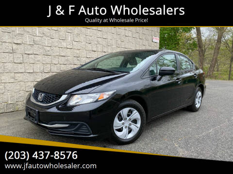 2015 Honda Civic for sale at J & F Auto Wholesalers in Waterbury CT
