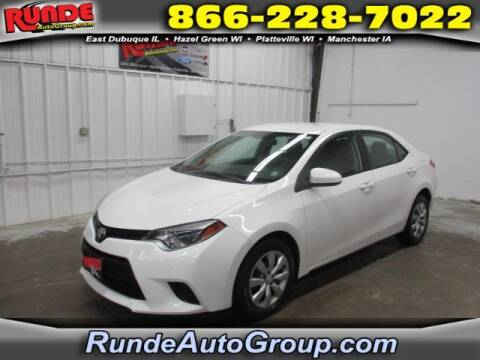 2014 Toyota Corolla for sale at Runde Chevrolet in East Dubuque IL