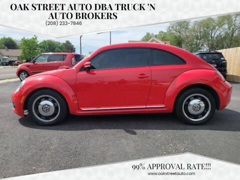 2013 Volkswagen Beetle for sale at Oak Street Auto DBA Truck 'N Auto Brokers in Pocatello ID