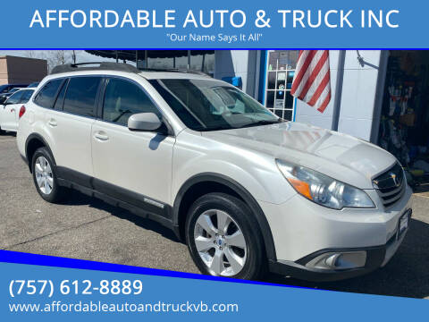 2011 Subaru Outback for sale at AFFORDABLE AUTO & TRUCK INC in Virginia Beach VA
