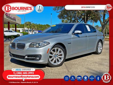 2016 BMW 5 Series for sale at Bourne's Auto Center in Daytona Beach FL