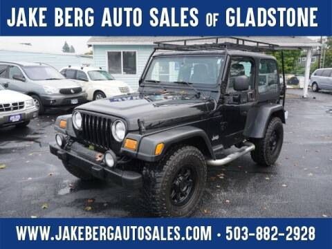 2004 Jeep Wrangler for sale at Jake Berg Auto Sales in Gladstone OR