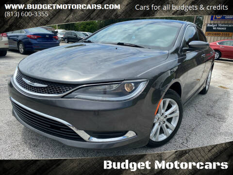 2015 Chrysler 200 for sale at Budget Motorcars in Tampa FL